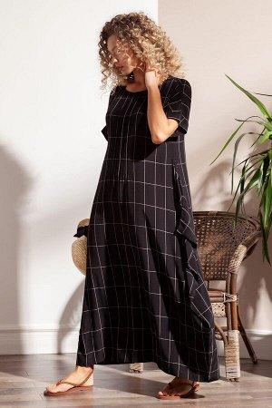 Стильное летящее платье из легкой вискозной ткани