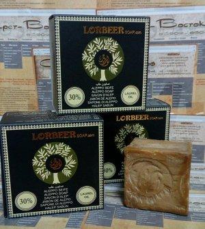 Традиционное алеппское мыло оливково-лавровое LORBEER Traditional Aleppo Soap 30% laurel oil