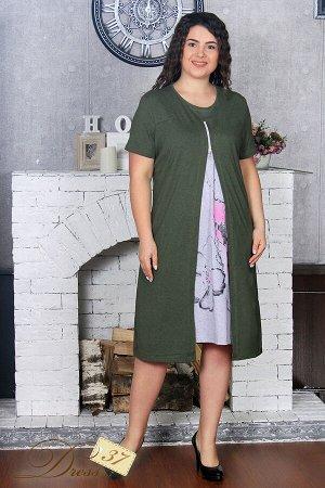Платье «Блик» хаки