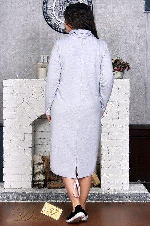 Платье «Павла» серый меланж
