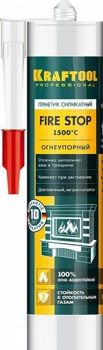 """Герметик KRAFTOOL KRAFTFLEX FR150 силикатный огнеупорный """"+1500 С"""""""