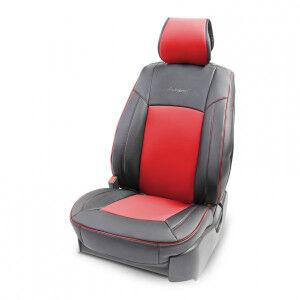 Накидка на сиденье каркасная AUTOPROFI экокожа HIT-310G BK/RD
