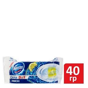 Блок гигиен. DOMESTOS 40г д/унитаза (смен.блок) Лимон 3в1
