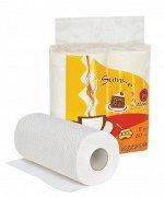 """Полотенца кухонные бумажные """"Maneki"""", серия Sumi-e, 2 слоя, 60 л., белые, 2 рулона/упак"""