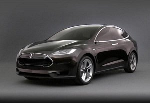 Коврик в багажник (большой при сложенном 3 ряде) Tesla Model X (2015 - н.в.)
