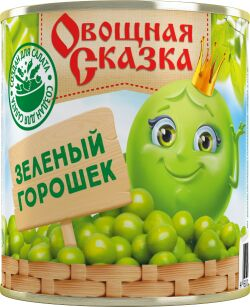 """""""Овощная сказка"""" Горошек зеленый ГОСТ 310г 1/15, шт"""