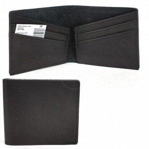 Портмоне мужское Croco-ПР-1058 натуральная кожа 1 отд,  4 карм,  черный шора (1000)  227415