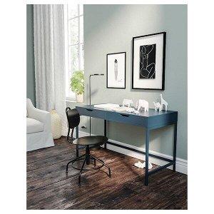 АЛЕКС Письменный стол, синий, 131x60 см Идеальное сочетание лаконичного дизайна | Диваны в гостиную