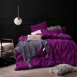 Комплект постельного белья Однотонный Сатин CS027 Евро 4 наволочки