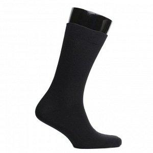 Носки мужские махровые, цвет чёрный, размер 25