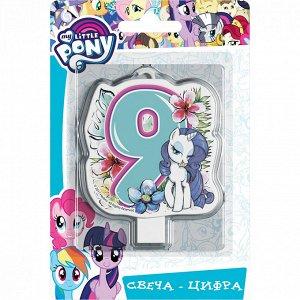 """Свеча-цифра №9 """"My Little Pony"""""""
