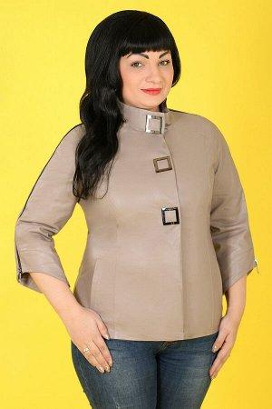 Куртка с коротким рукавом кожанаябежевый
