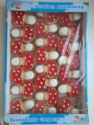 Печенье Вкусное сахарное сэндвич-печенье в форме грибочка с прослойкой