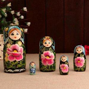 Матрёшка «Цветочная с поталью», 5 кукольная, 17 см