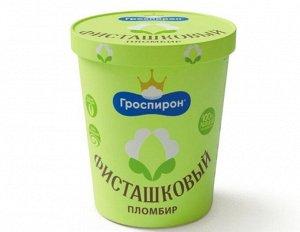 Мороженое «Фисташковый пломбир» в ведёрке, плмб фисташка, 410 грамм. Гроспирон.