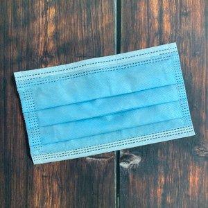 Маски защитная 3-х слойные на резинке