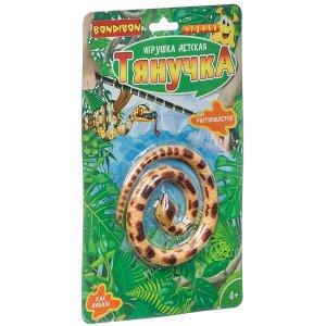 Чудики Bondibon Игрушка детская «ТЯНУЧКА», мини змейка, 42 см, BLISTER
