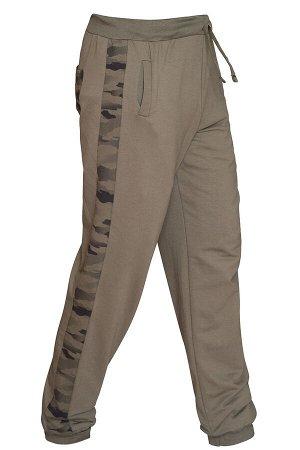 Трикотажные брюки 'Хаки комби'