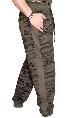 Трикотажные брюки 'Индиго комби'