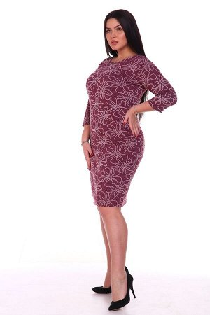Платье теплое Бордо (М-478)