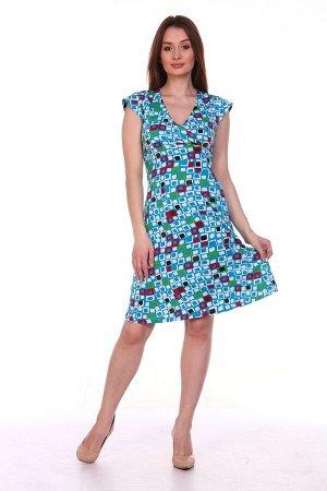 Платье . Платье (М-119) РАСЦВЕТКА В АССОРТИМЕНТЕ. Кулирка (хлопок)