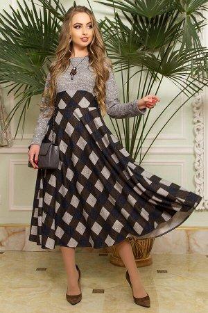 "Платье ""L-167"" (серый+хаки)"