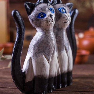 Подарочные наборы для рыбаков, охотников и не только. — Статуэтки кошек (Индонезия) — Сувениры