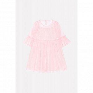 5562 платье/св.розовый меланж к223