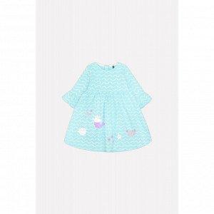 5508 платье/волна на аквамарине к209