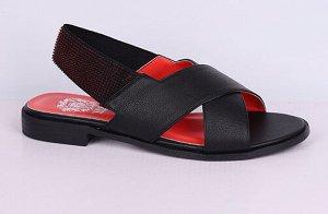 L0012-04-1 черный (Иск.кожа/Иск.кожа) Туфли летние открытые женские 10п
