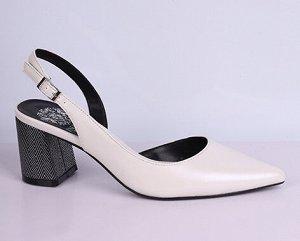 L0020-05-3 молочный (Иск.кожа/Иск.кожа) Туфли летние открытые женские 10п