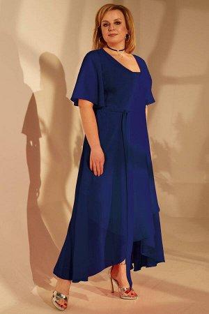 Платье Платье Golden Valley 4684 №2  Состав ткани:Платье: ПЭ-100%; Платье: ПЭ-95%; Спандекс-5%;  Рост: 164 см.  Платье полуприлегающего силуэта, двухслойное, верхний слой- отрезное по линии талии, с
