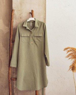 """Платье """"Дэйна"""" для беременных и кормящих; цвет: хаки"""
