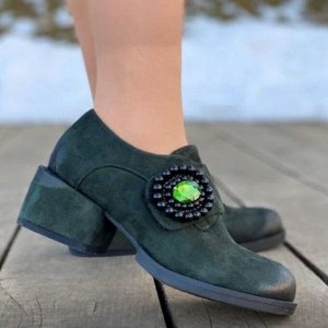 Туфли Ботиночки на устойчивом  каблуке на каждый день. Они хорошо сочетаются с джинсами и брюками всех фасонов, кроме «бойфренд». Их можно носить с юбками и платьями в официальном или кэжуал стиле. Ра