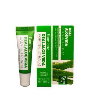 Farm Stay Real Aloe Vera Essential Lip Balm Бальзам для губ с алоэ 10 мл