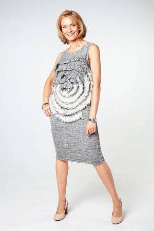 Платье, 48 размер, лен.