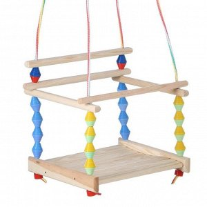 """Качели детские подвесные """"Волна"""", деревянные, сиденье 33?27см"""