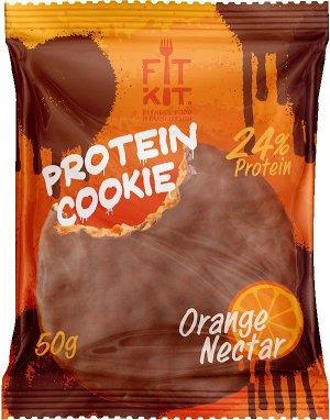 Протеиновое печенье в шоколадной глазури FITKIT - 50 гр