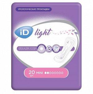 Прокладки урологические iD Light Mini 20 шт.