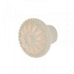 Ручка-кнопка RC201, цвет хром, с белой вставкой