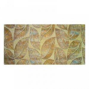 Панель ПВХ Листья коричневые 960*480*0,3 мм