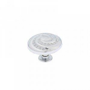 Ручка кнопка РК018CP, цвет хром