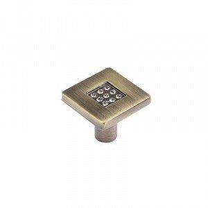 Ручка-кнопка CRL03 BA, 28х28х24 мм, цвет бронза