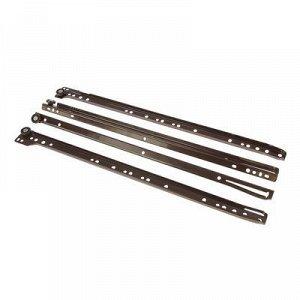 Роликовые направляющие, L=450 мм, до 12 кг, коричневые, 4 шт.