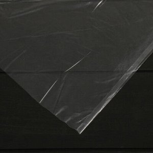 Плёнка полиэтиленовая, 60мкм, 3*100м, рукав (1,5м*2), прозрачная, 1 сорт, Эконом 50%,