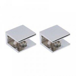 Полкодержатель PL011, H=8 - 12 мм, цвет хром, в комплекте 2 шт.