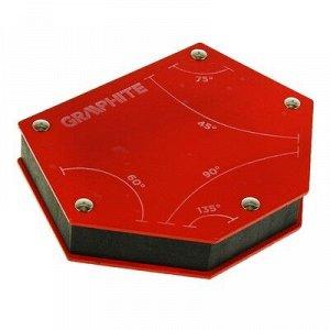 Магнитный угольник GRAPHITE, для сварки, 45/60/75/90/135?, усилие на отрыв 24 кг