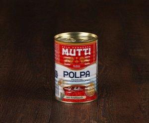 Томаты резаные кубиками в томатном соке с чесноком MUTTI, 400 г