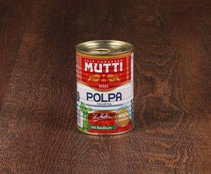 Томаты резаные кубиками в томатном соке с базиликом MUTTI, 400 г