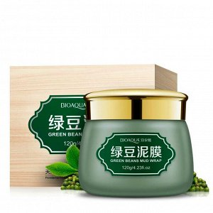 BIOAQUA, Очищающая грязевая маска с бобами Мунг Green Beans Mud Wrap, 120 гр